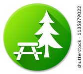 illustration of picnic table... | Shutterstock .eps vector #1135879022