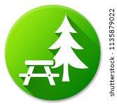 illustration of picnic table... | Shutterstock .eps vector #1135879022