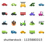 colored vector icon set  ... | Shutterstock .eps vector #1135880315
