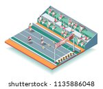 sports rollers competitions on... | Shutterstock .eps vector #1135886048