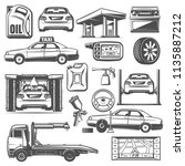 car service and repair... | Shutterstock .eps vector #1135887212