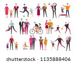 vector family and children... | Shutterstock .eps vector #1135888406