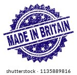 made in britain stamp seal... | Shutterstock .eps vector #1135889816