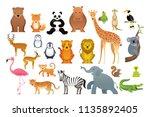 wild animals vector set  zoo ... | Shutterstock .eps vector #1135892405