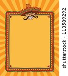 mexican frame with man in... | Shutterstock . vector #113589292