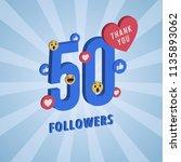 social media banner with thank... | Shutterstock .eps vector #1135893062