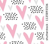 seamless pattern with cute... | Shutterstock . vector #1135893536