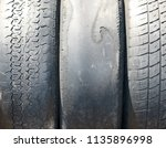 Old Worn Out Summer Tires With...