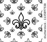 fleur de lis seamless pattern ... | Shutterstock .eps vector #1135897538