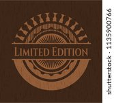 limited edition wood emblem.... | Shutterstock .eps vector #1135900766