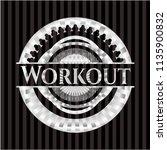 workout silver emblem or badge | Shutterstock .eps vector #1135900832