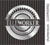teleworker silver emblem or... | Shutterstock .eps vector #1135900982