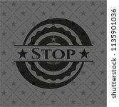 stop black emblem. vintage. | Shutterstock .eps vector #1135901036