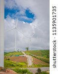 windmill turbine electricity...   Shutterstock . vector #1135901735