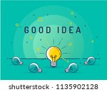 good idea. set of laying light... | Shutterstock .eps vector #1135902128