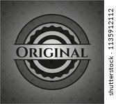 original black emblem. vintage. | Shutterstock .eps vector #1135912112