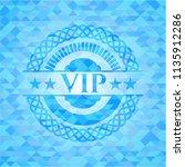 vip realistic sky blue emblem.... | Shutterstock .eps vector #1135912286