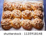 homemade pastry with a topping... | Shutterstock . vector #1135918148