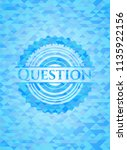question realistic sky blue... | Shutterstock .eps vector #1135922156