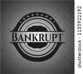 bankrupt dark emblem. retro | Shutterstock .eps vector #1135922192