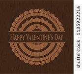 happy valentine's day realistic ... | Shutterstock .eps vector #1135922216