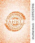 yankee abstract emblem  orange... | Shutterstock .eps vector #1135922546