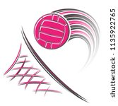 pink water polo ball with... | Shutterstock .eps vector #1135922765