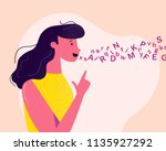 young and friendly woman... | Shutterstock .eps vector #1135927292