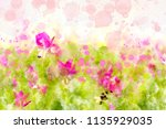 Abstract Image Of Pink Flower...