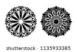 tattoo mandala. set of two... | Shutterstock .eps vector #1135933385