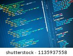 css3 in code editor  close up.... | Shutterstock . vector #1135937558