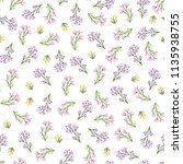 seamless pattern with small... | Shutterstock .eps vector #1135938755