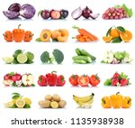 fruits and vegetables... | Shutterstock . vector #1135938938