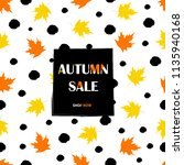 autumn sale background with... | Shutterstock .eps vector #1135940168