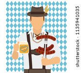 traditional oktoberfest man... | Shutterstock .eps vector #1135941035