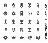 icon set   trophy and awards... | Shutterstock .eps vector #1135942535