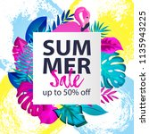 summer sale up to 50 off banner ... | Shutterstock .eps vector #1135943225