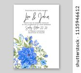 floral wedding invitation or... | Shutterstock .eps vector #1135946612