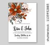 wedding invitation floral... | Shutterstock .eps vector #1135952885