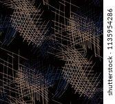 various pen hatches. seamless... | Shutterstock .eps vector #1135954286