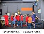 children on vacation children's ... | Shutterstock . vector #1135957256