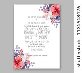 floral wedding invitation...   Shutterstock .eps vector #1135958426