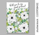floral wedding invitation...   Shutterstock .eps vector #1135958432
