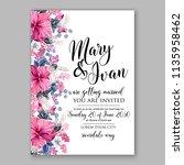 floral wedding invitation...   Shutterstock .eps vector #1135958462