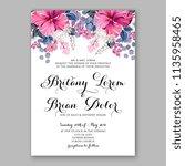 floral wedding invitation... | Shutterstock .eps vector #1135958465