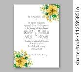 floral wedding invitation...   Shutterstock .eps vector #1135958516