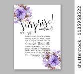 floral wedding invitation...   Shutterstock .eps vector #1135958522