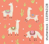 seamless pattern with cute... | Shutterstock .eps vector #1135962128