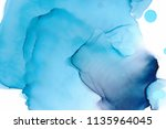hand painted ink texture.... | Shutterstock . vector #1135964045