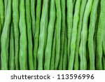 Chinese Long Bean Close Up...